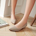 Plochá podrážka - Koženka - Špičatá špička - Dámská obuv - Černá / Zelená / Červená / Béžová - Outdoor / Kancelář / Běžné - Nízký podpatek