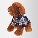 猫用品 / 犬用品 Tシャツ レッド / グリーン / ブルー 犬用ウェア 夏 / 春/秋 格子柄 カジュアル/普段着 / クラシック