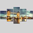 風景画 / 建築 / 現代風 キャンバスプリント 5枚 ハングアップする準備ができました , 横式