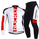 NUCKILY® Biciklistička majica s tajicama Muškarci Dugi rukav BiciklProzračnost / Quick dry / Vjetronepropusnost / Ultraviolet Resistant /