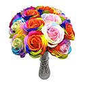 1枚の色の人工花は色鮮やかな花は結婚式の家の装飾(ランダムな色)のための花をバラ