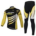 XINTOWN® Biciklistička jakna s hlačama Uniseks Dugi rukav Bicikl Ugrijati / Podstava od flisa / Izolacija / Anti-Fuzz / Pad 3DFlis jakne