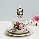 nerezové oceli sova čaj infuser sypaný bylinný koření filtr diffuer