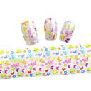 10ks 100cmx4cm květina a motýl vlna třpytky na nehty fólie nálepka kutilství krása nehty ozdoby stzxk01-49
