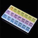 warm te koop 21 grids afneembare plastic opbergdoos strass nail art case