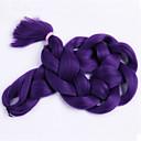 レッド 箱三つ編み ジャンボ ヘアエクステンション 24inch カネカロン 3 ストランド 80-100g/pcs グラム 髪の三つ編み