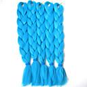 ブラウン 箱三つ編み ジャンボ ヘアエクステンション 24inch カネカロン 3 ストランド 80-100g/pcs グラム 髪の三つ編み