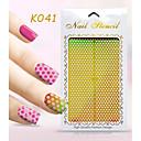 Nový nail art duté samolepky barevné geometrický tvar nehtů krása k041-050
