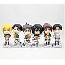 Napad na Titanu Others PVC One Size Anime Akcijske figure Model Igračke Doll igračkama