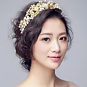 Parel / Bergkristal / Licht Metaal Vrouwen / Bloemenmeisje Helm Bruiloft / Speciale gelegenheden Tiara's Bruiloft / Speciale gelegenheden