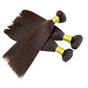 3pcs / puno 110 g / kom 7a 100% djevičansko Brazilski ljudske kose plete snopove kose potke, Yaki, prirodna boja kose