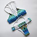 Ženski Bikini-Grudnjak na vezanje-Bez žice-Color block-Najlon / Poliester