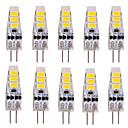 ywxlight® 10 ks g4 3 w 6 smd 5730 500-700 lm teplá bílá / studená bílá t dekorativní vedl bi-pin světla DC 12 V