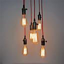 6 hlavy retro závěsná svítidla, s vypínačem kutilství art obývací pokoj / jídelna, vstupní chodba / svítidla