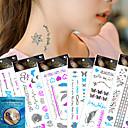 kinghorse-Tetovaže naljepnice-Others- zaŽene / Odrasla osoba-Uzorak-21*10.5CM-Non Toxic / Waterproof / Metalik-7Pcs/Lot =6pcs temporary