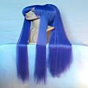 divno izrazito dugi ravni ljubičasta Cosplay perika s rep sintetičke kose perika prirodna animirane strana perika