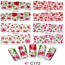 1ks nehty samolepky přenosu art voda barevný obrázek květinovým vzorem c172-179