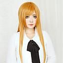 Cosplay Wigs Sword Art Online Asuna Yuuki Narančasta Long / Ravan kroj Anime Cosplay Wigs 80 CM Otporna na toplinu vlakna Female