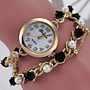 Dámské Módní hodinky Náramkové hodinky Křemenný Slitina Kapela S perlami Zelená Vícebarevný Černá