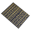 1X 108個の3Dゴールドの花のネイルアートステッカーネイルアートステッカーデカール