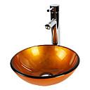 Suvremena T12*Φ420*H145MM Krug Sudoper materijala je Kaljeno stakloKupaonica Sudoper / Kupaonica pipa / Kupaonica Montaža Ring /