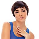 krátký bob vysoce kvalitní syntetické hnědé rovné vlasy paruka