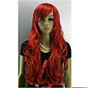 Bez poklopca Long Curly Red Kos Žene Sinteza Hair Cijeli Wig