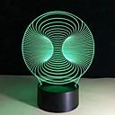kreativní vize 3d vedl lampa barevné noční světlo dotekovým spínačem