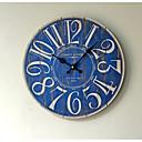 レトロ風 その他 壁時計,円形 ウッド / プラスチック 35*35cm 屋内 クロック