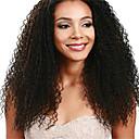 黒人女性のための100%の未処理のインドの処女人間の毛髪の天然黒カーリーレースの前部かつら