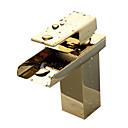 伝統風 センターセット 滝状吐水タイプ with  セラミックバルブ シングルハンドルつの穴 for  Ti-PVD , バスルームのシンクの蛇口