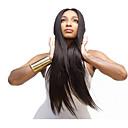 evawigs 10-26 inča dugo ravno perika 100% ljudska kosa čipke ispred perika prirodnu crnu boju 130% gustoće