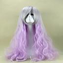 fialové cosplay paruka sex produkty syntetické paruka lolita paruka vlasy paruky 80 cm dlouhá volná zvlněná Perruque peruca