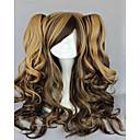 capless kostim perika sintetičke 18 inča dugo valovita ombre kosa vlasulja 3 boje cosplays