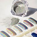 アイシャドウと1グラム/箱ホログラフィックレーザーパウダーネイルグリッターカラフルな明るい顔料マニキュアクローム