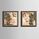 Květiny a rostliny Kanvas v rámu / Set v rámu Wall Art,PVC Zlatá Bez pasparty s rámem Wall Art