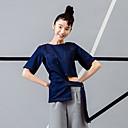 room404 ženski izlazak ulica chic ljeto blousesolid okrugli duljina vrat rukava plava rayon / spandex neprozirno