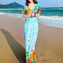 Ženska cvjetni print kratkih rukava haljina