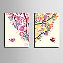 Životinja / Botanički Canvas Print Dvije zavjese Spremni za objesiti , Vertikalno