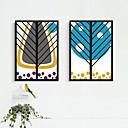 Květiny a rostliny / Fantazie Kanvas v rámu / Set v rámu Wall Art,PVC Černá Bez pasparty s rámem Wall Art