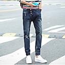 Pánské Jednobarevné Denní nošení Bavlna Džíny Modrá