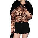 Normalne dužine Padded Kaput,Žene Jednobojni / Leopard Slatko Ležerno/za svaki dan-Dugih rukava Rabbit Fur / Pamuk PolipropilenS
