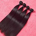 4 Pièces Droit (Straight) Tissages de cheveux humains Cheveux Malaisiens 350g 10''-30'' Extensions de cheveux humains