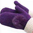 ms vune u zimskim zadržati toplo rukavice (ljubičasta kunić kose kugla rukavice)