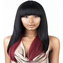 Fashion Style Long Straight Wave Ombre Black and Red Color Synthetic Wigs for Women