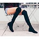 女性-ドレスシューズ カジュアル-PUレザー-ローヒール-コンフォートシューズ-ブーツ-ブラック