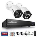 sannce® 1.0mp 720p 4ch hd 4 in1 tvi H.264 DVR V / venkovní CCTV kamerový systém