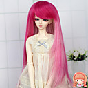 syntetická dlouhá rovná stín růžová barva 1/3 1/4 BJD SD dz MSD panenka paruka příslušenství, které není pro dospělého člověka