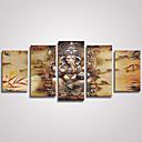 platno Set / Unframed Canvas Print Sažetak / Životinja Moderna / Realism,Pet ploha Platno Horizontalno Ispis Art Zid dekor For Početna
