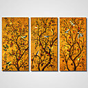 platno Set / Unframed Canvas Print Mrtva priroda / Životinja Realism / Moderna,Tri plohe Platno Horizontalno Ispis Art Zid dekor For